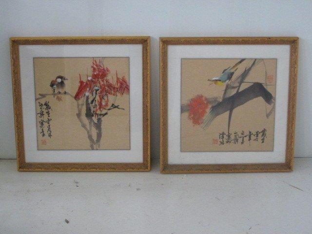 21: Pair framed paintings