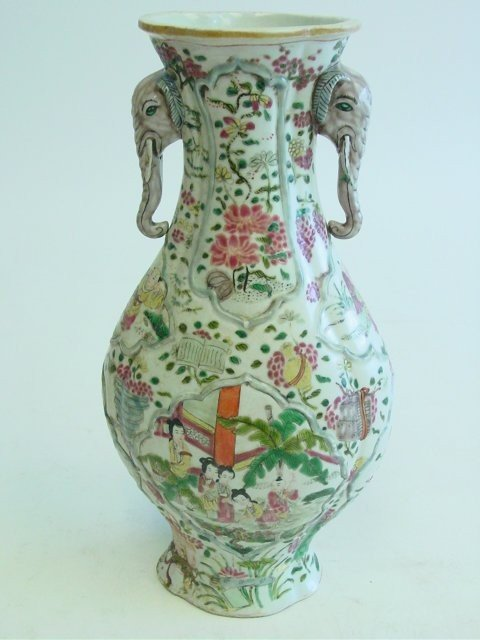 22: Jia Qing, Emperor of China, Famille Rose vase