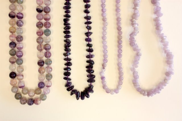 503A: Group lot assorted amethyst jewelry