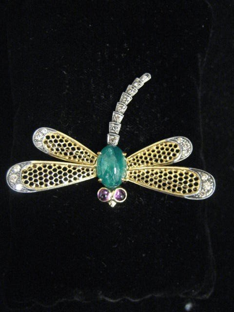 510A: 18kt yellow gold Dragonfly pin