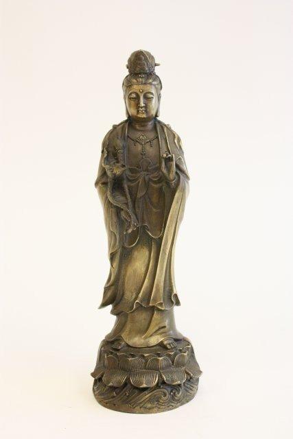 """1119: Bronze """"Guan Yin"""""""