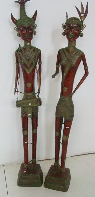 1178: Early 19th c. Pair of Dhokra Tribal figures
