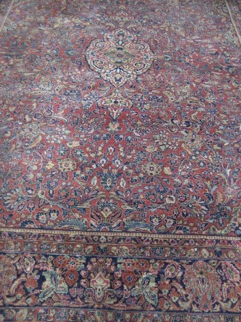 1: Handmade red Sarouk rug ca. 1920's