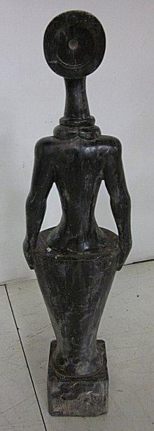 12: Contemporary black marble sculpture