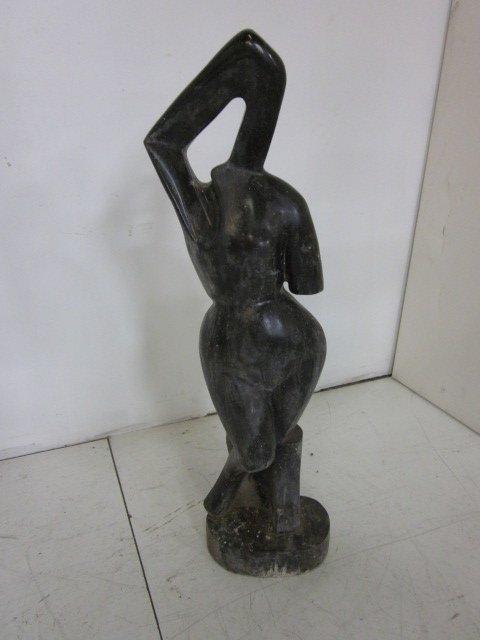 13: Contemporary black marble sculpture
