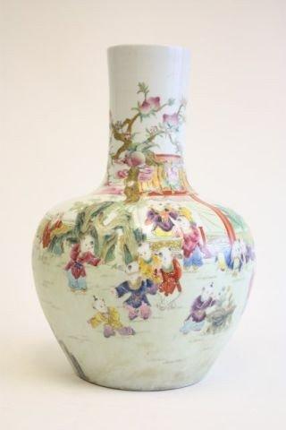 22: Qianlong Famille Rose vase