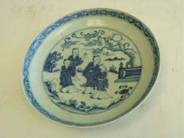 23: Ming Xuande blue & white porcelain plate