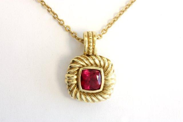 508: David Yurman 14kt gold pendant