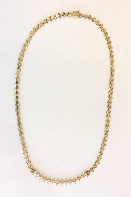 518: 14kt gold & diamond necklace