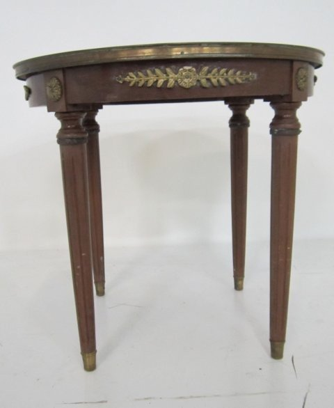 4: Round end table