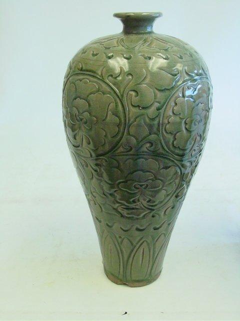 9: Yaozhou Ware porcelain plum vase