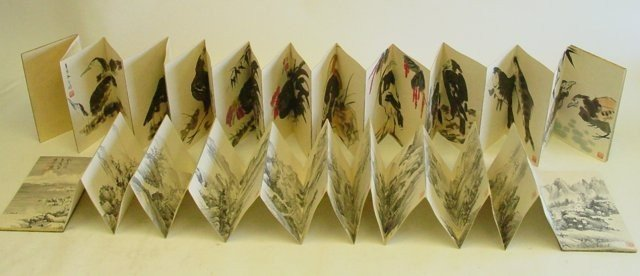 11: 2 Chinese fold out print books
