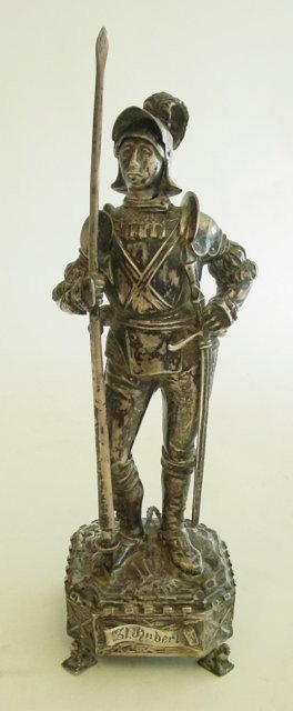 "241: German gilt parcel silver ""Knight St. Aubert"""