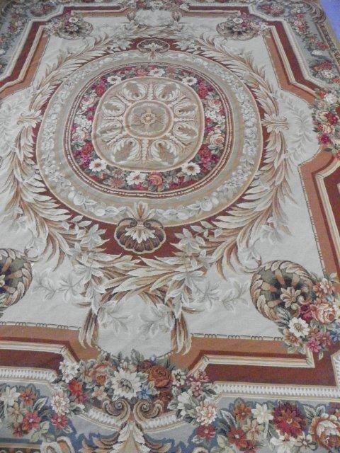2: Aubusson design handmade floral rug