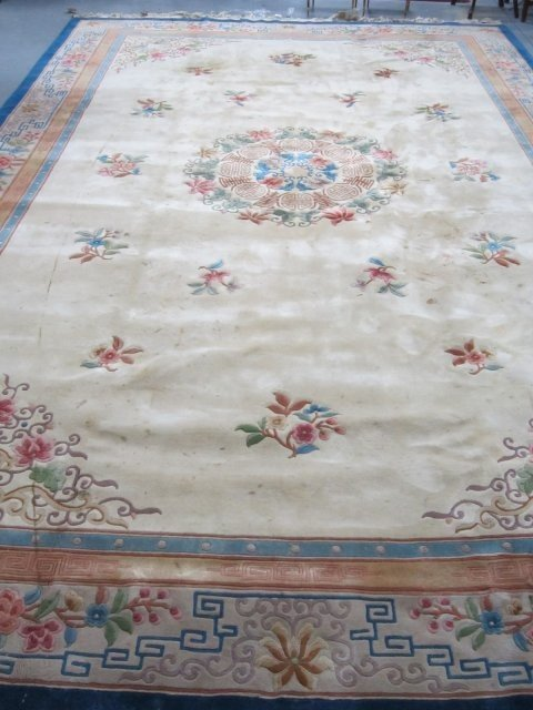 7: Chinese sculpted hand made rug