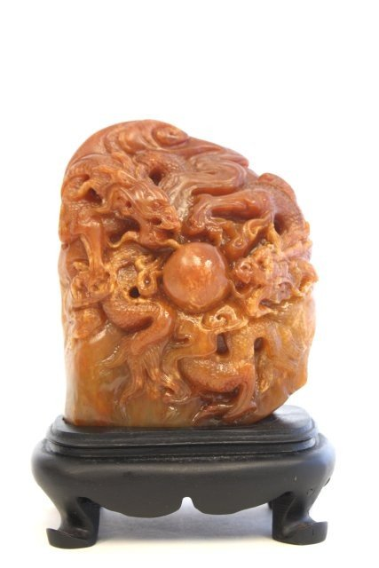 """15: 19th c. Tienhuang Imperial seal of """"Dragons"""""""