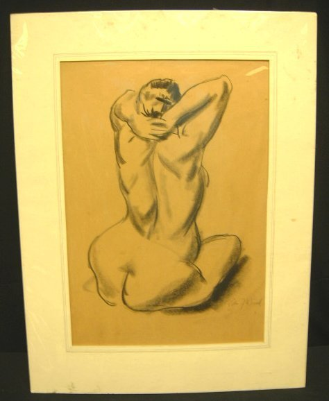 7: CHARCOAL SEATED WOMAN BY WARD
