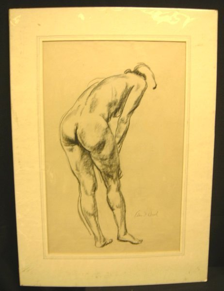 8: CHARCOAL WOMAN BACK VIEW BY WARD