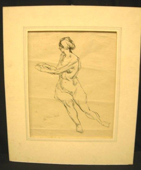 12: NUDE FEMALE SIGNED EDMUND F. WARD