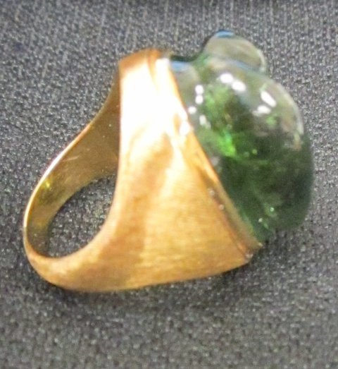 603A: 18kt gold ring signed Burle Marx