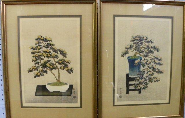 750A: Pair woodblock prints