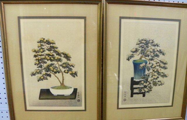 750A: Pair woodblock prints - 2