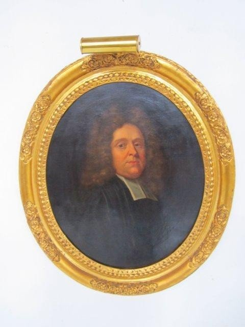 768: Early 19th c. oval oil painting on canvas