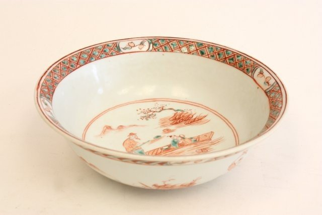 1202: Chinese bowl with interior & exterior decoration