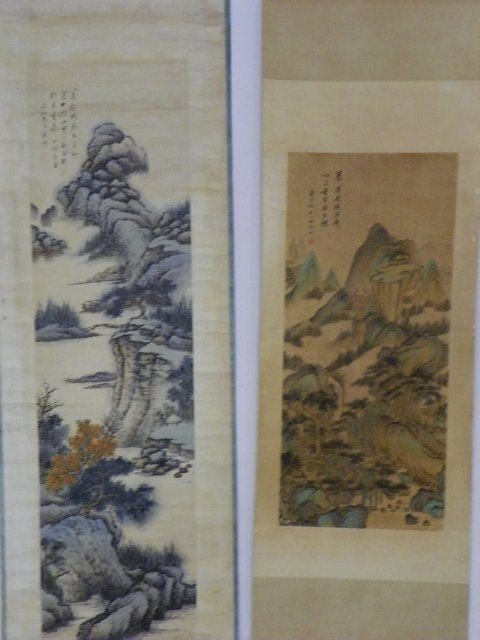 1204: 2 Chinese scrolls