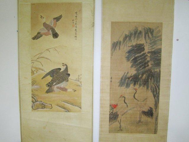 1206: 2 Chinese scrolls