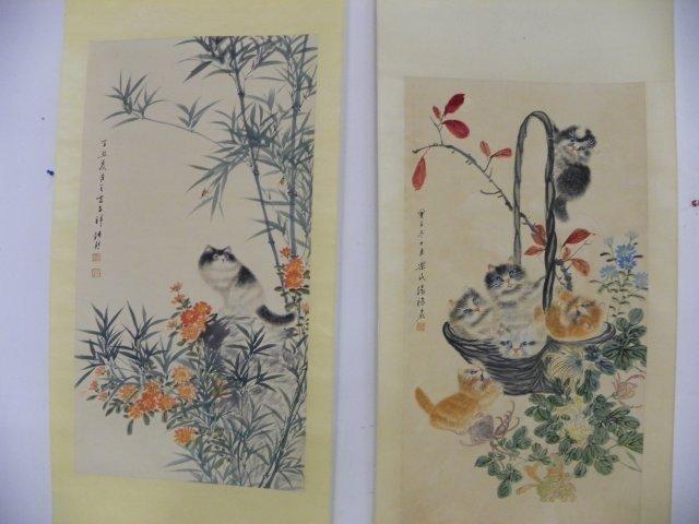 1209: 2 Chinese scrolls