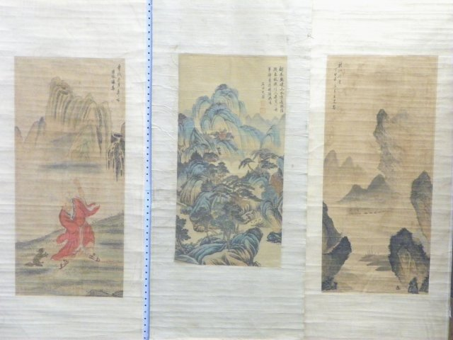 1210: 3 Chinese scrolls