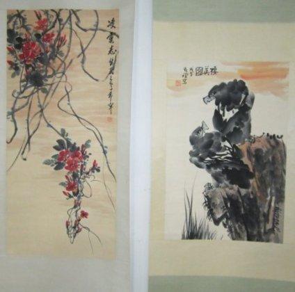 1214: 2 Chinese scrolls