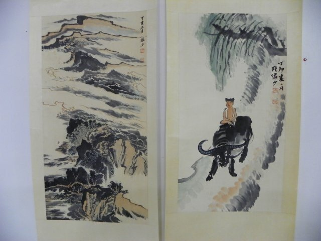 1216: 2 Chinese scrolls