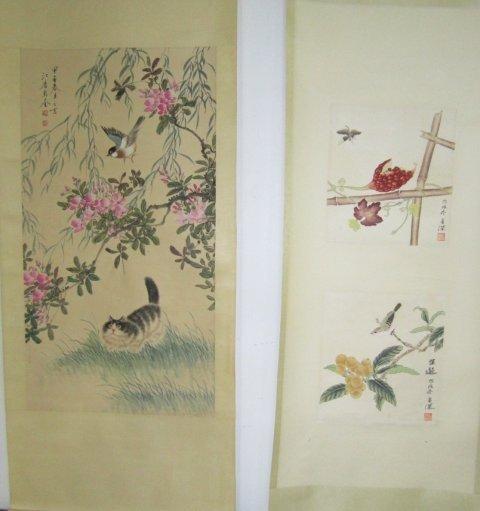 1219: 2 Chinese scrolls
