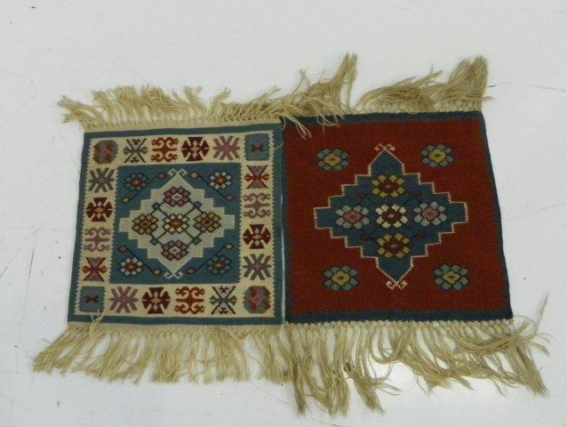 2: 2 small Kilim rugs