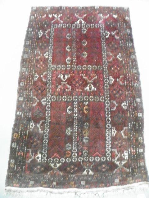"""4: Turkamen rug """"Hatchili"""" design"""