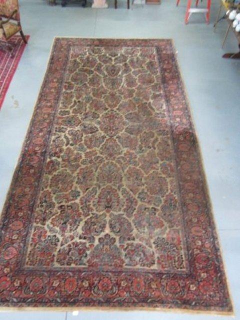 6: Ivory Sarouk handmade Persian rug