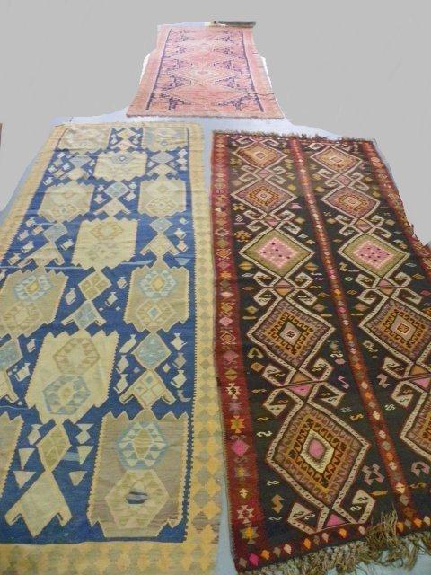 9: 3 Turkish decorative rugs