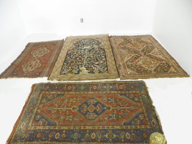 10: 4 Persian scatter rugs