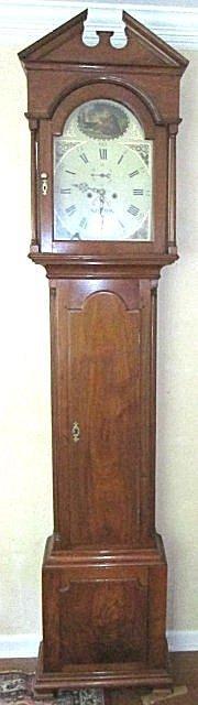 """204: American """"Norton"""" tall case grandfather clock"""
