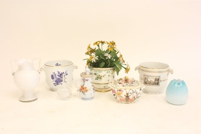 Group lot of assorted porcelain & glass