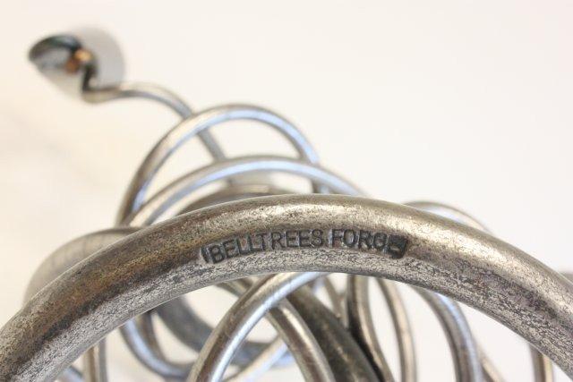 494A: Belltrees Forge modern 3 piece  candelabra set - 3
