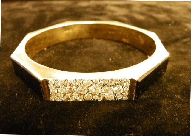 607A: Diamond & onyx octagonal bracelet