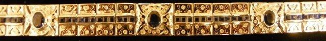 609: 18kt gold, diamond & sapphire bracelet