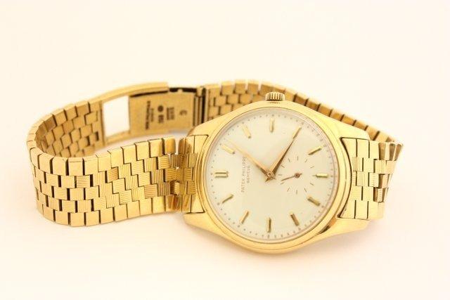 617: Patek Philippe Geneve men's wrist watch c. 1940