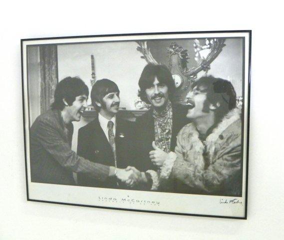 838: Linda McCartney autographed Beatles poster
