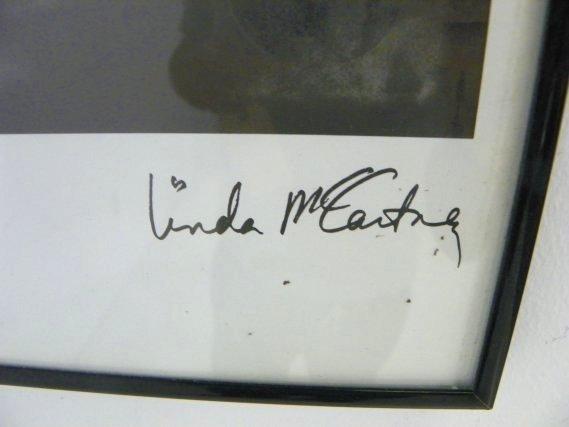 838: Linda McCartney autographed Beatles poster - 2