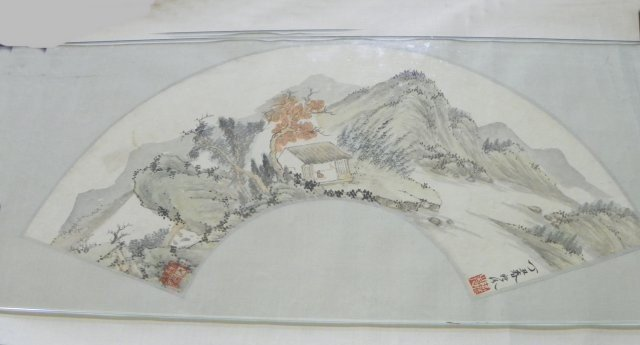 1200: Chinese fan scroll possibly attrib. to  Shi Yi