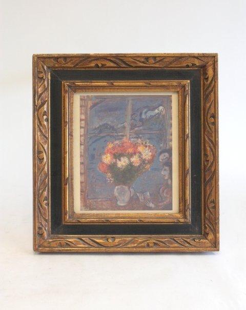 1003: Marc Chagall print still life